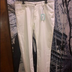 Peter Millar Collection Men's White Jeans